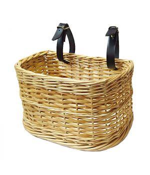 Корзина плетеная для велосипеда с креплением на руль малая