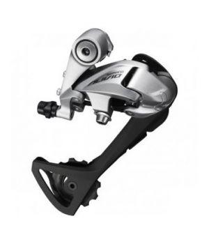 Переключатель задний Shimano Alivio T4000, SGS, 9 скоростей, цвет серебристый