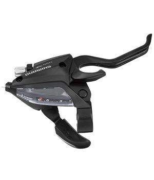 Шифтер/Тормозная ручка Shimano Tourney EF500, правый, 8 скоростей, тр., цв. черный