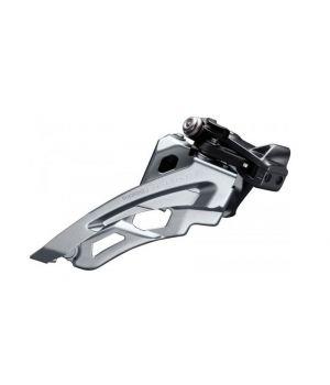 Переключатель передний Shimano Deore M6000-L, для 3x10ск, нижний хомут, side-swing, верхняя тяга