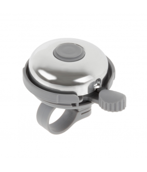 Звонок H-017A сталь/пластик D=53 мм, серо-серебристый