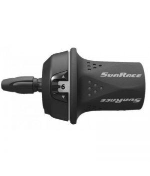 Переключатель скоростей Sunrace TSM21.R600.GS0.HP, грипшифт, правый, 6 скоростей, трос 2100 мм