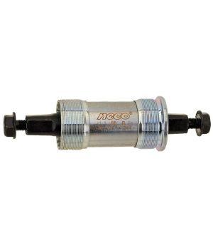 Каретка-картридж Neco, корпус 68 мм, стальные чашки, 122.5/28.5 мм