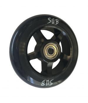 Колесо для трюкового самоката SUB, фрезерованный алюминий, с подшипником ABEC 9, 100 мм, черный