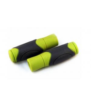 Ручки на руль CLARK`S С44 резиновые 125 мм, эргономичные, серый/зеленый