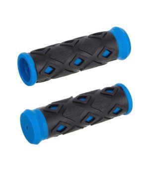 Грипсы ХD-113B, 95 мм, черный/синий