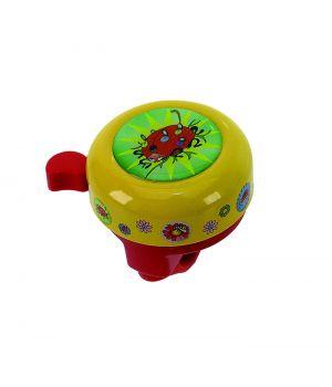 Звонок M-Wave сталь/пластик, детский с 3D-рисунком, 6 цветов