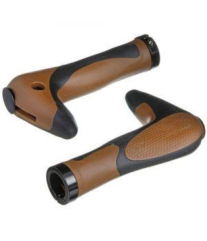 Грипсы-рога STG HL-G205 150 мм, черный/коричневый