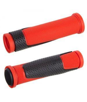 Грипсы STG HL-G305, 125 мм, черный/красный