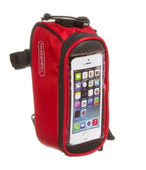 Велосумка Roswheel 12496S-CC5 на раму, для телефона, размер S, красная