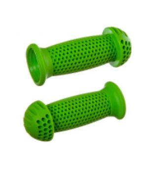 """Грипсы STG GR112 100 мм, зеленые, """"грибочки"""", для самоката и вело"""