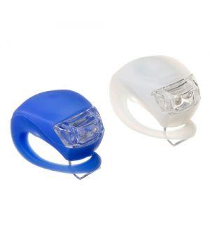 Набор силиконовых фонарей STG BC-RL8001, белый/синий