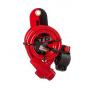 Велозамок STG TY596, трос спиральный, на ключе, 10х100 см, красный