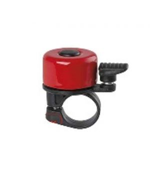 Звонок мини, алюминий/пластик, красный VAL-YF+звонок -65