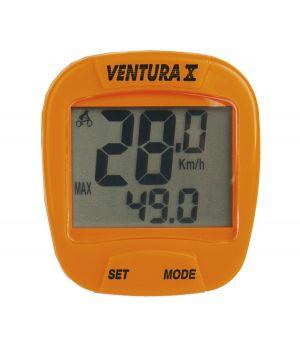 Велокомпьютер VENTURA Х, 10 функций, оранжевый