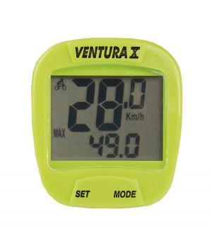 Велокомпьютер VENTURA Х, 10 функций, зеленый