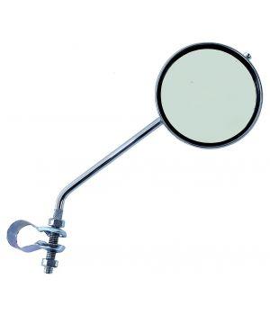 Зеркало плоское, круглое 80 мм, регулируемое кольцевое крепление, серебристый