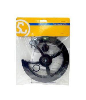 Защита системы Sunny Wheel W-719, 42/44Т, универсальное крепление, пластик, черная