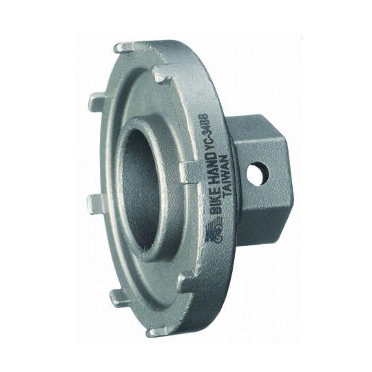 Съемник прижимного кольца электропривода Bosch Bikehand YC-34BB, d50mm, для электровелосипедов, серебро