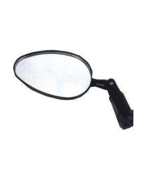 """Зеркало круглое 3"""", плоское, крепление к ручке руля на липучке, черное"""